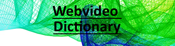 webvideo dictionary banner